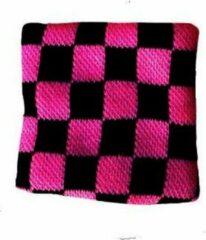 Zac's Alter Ego Zweetband Checkered Roze/Zwart