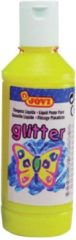 Jovi Plakkaatverf Glitter flacon van 250 ml, geel