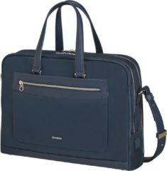 Donkerblauwe Samsonite Laptopschoudertas - Zalia 2.0 Bailhandle 2 vakken 15.6 inch Midnight Blue