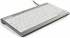 BakkerElkhuizen UltraBoard 950 Toetsenbord USB QWERTY, US-Engels Zilver, Wit Multimediatoetsen, USB-hub