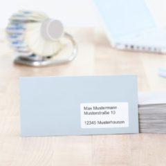 Adresetiketten Herma 10826 99,1x38,1 mm natuurlijk wit gerecycled papier mat Blauer Engel 1400 st.