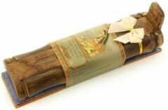 Prabhuji's Gifts Wierook geschenkpakket 'Meditatie' (3 pakjes), inclusief houder van mangohout