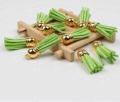 Akyol Gordijnkwast | Kussenhoes kwast | 3,5cm | Groen | 8 stuks