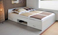 Bett 140 x 200 cm weiss Parisot Mega 3.1