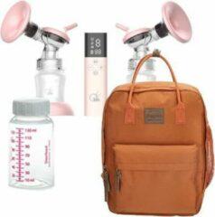 Roze MoM&e dubbele elektrische borstkolf + kolftas en koeltas - Terracotta