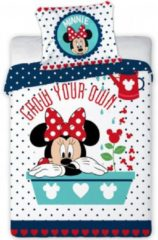 Witte Disney Minnie Mouse Grow your own - BABY dekbedovertrek - 100 x 135 cm - Multi