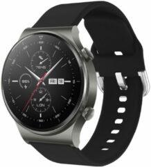 IMoshion Siliconen Smartwatch Bandje voor de Huawei Watch GT 2,Huawei Watch GT 2 Pro,Huawei Watch GT 2e Sport 46 mm - Zwart