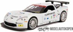 2005 Chevrolet Corvette C6-R (Wit) 1/24 Jada - Modelauto - Schaalmodel - Model auto - Miniatuurautos - Miniatuur auto
