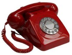 Rode GPO Retro GPO 746PUSHRED Telefoon met druktoetsen klassiek jaren '70 ontwerp