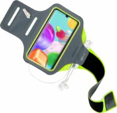 Groene Mobiparts Comfort Fit Sport Armband Samsung Galaxy A41 (2020) Neon Green