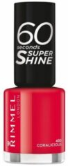 Koraalrode Rimmel London 60 seconds supershine Nagellak - 430 Coralicious
