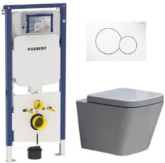 Douche Concurrent Geberit UP720 Toiletset - Inbouw WC Hangtoilet Wandcloset Rimfree - Alexandria Sigma-01 Wit