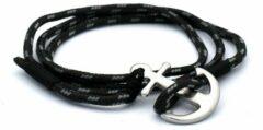 MR. JACOB Floyd zwart-witte ankerarmband