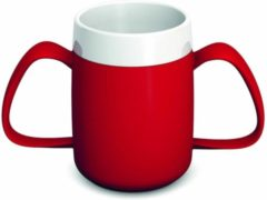 Rode Adhome Isolerende beker met ergonomisch handvat 220 ml -2 handvatten- rood