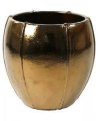 Gouden Ter Steege Moda pot 55x55x55 cm Gold bloempot