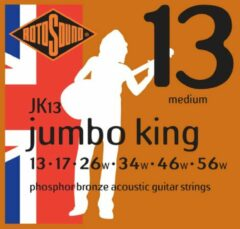 Rotosound JK13 Jumbo King akoestische gitaarsnaren 013-56w