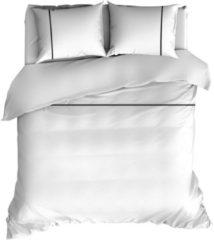 Romanette Duchesse - Flanel - Dekbedovertrek - Lits-jumeaux - 270x200/220 cm + 2 kussenslopen 60x70 cm - Wit/Zwart