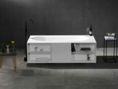 Mawialux vrijstaand bad | Solid surface | 180x100 cm | Mat wit | ML-100-VBMG-MW