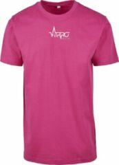 FitProWear Casual T-Shirt Heren Roze - Maat M - Shirt - Sportshirt - Casual Shirt - T-Shirt Ronde Hals - T-Shirt Slim Fit - Slim Fit Shirt - T-Shirt korte mouwen