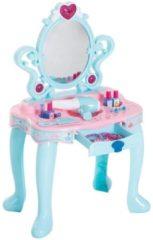 HOMCOM Schminktisch Kinder Frisiertisch mit Klavier Fotorahmen Hellgrün+Rosa Kinder Frisiertisch Kosmetiktisch Kinderspielzeug