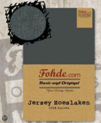 Antraciet-grijze Fohde Hoeslaken Jersey hoeslaken - 180 X 200 cm - Antraciet