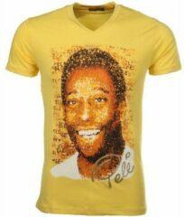 Gele T-shirt Korte Mouw Mascherano T-shirt Pele