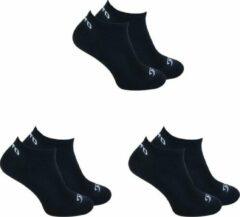 6-Pack O'Neill Lage Koele Sneakersokken Unisex 730003 Zwart - Maat 39-42