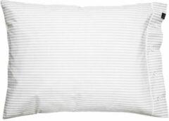 Grijze Himla Rindo kussensloop stripe pearl - 60 x 70 cm
