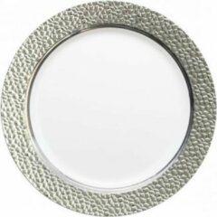 """Royal ware by Farla Zilver en wit kleurige herbruikbare plastic borden, 7"""" - verpakking van 10 borden"""
