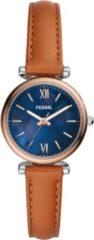 Bruine Fossil Carlie Mini horloge ES4701