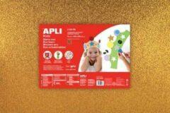 Apli Kids EVA Foam vellen 60 x 40 cm Glitter metallic goud - 3 vel