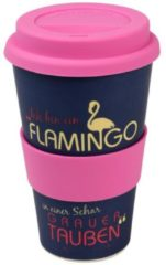 Bamboo Becher to go, lila/pink