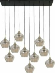 Gouden Light & Living Rakel Hanglamp - Antiek Brons/Smoke - 10L - 124 x 35 x 60 cm