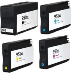 Cyane Goedkoopprinten Huismerk voor HP 950XL inkt cartridge / HP 951XL cartridge Multipack set 4x