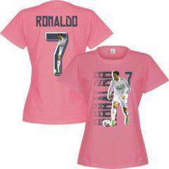 Roze Retake Ronaldo 7 DAMES Gallery T-Shirt - M - 10