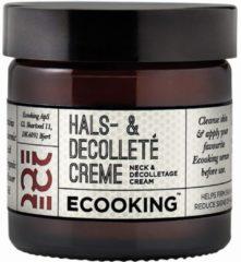 Ecooking Nek & Decolleté Crème - Pot 50ml - Anti-Aging Verzorging voor Hals en Borst - Parfumvrij