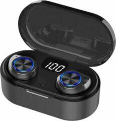 Gymston MX7 Volledig Draadloze Oordopjes Met Oplaadcase - Zwart - Draadloze Bluetooth oordopjes - Bluetooth oortjes - Geschikt voor alle bluetooth smartphones Apple iPhone en Android - Draadloos opladen