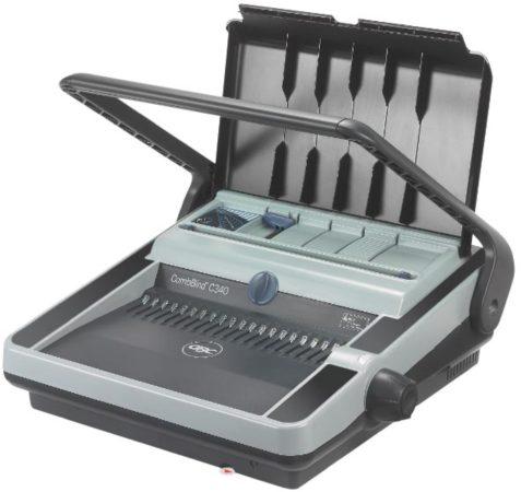 Afbeelding van GBC inbindmachine CombBind C340, manuele inbindmachine, met ponshendel