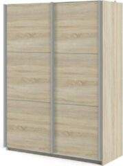 Tvilum Veto kledingkast A 2 deurs H200 cm x B150 cm eikenstructuur decor.