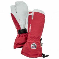 Hestra - Army Leather Heli Ski 3 Finger - Handschoenen maat 7, roze/grijs
