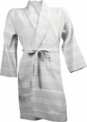 I2T - Hamam Collection I2T Hamam badjas zonder Capuchon - Licht grijs - L/XL
