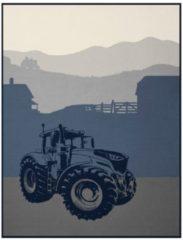Wohndecke, Biederlack, »Traktor«, mit Traktor Motiv