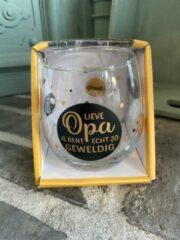 Gouden Creaties van hier Wijn - water glas / Lieve opa je bent echt zo geweldig / wijnglas / waterglas / leuke tekst / moederdag / vaderdag / verjaardag / cadeau
