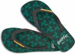 Groene BeachyFeet slippers - Geometrico (maat 43/44)