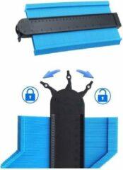 Merkloos / Sans marque A+ Aftekenhulp met Lock - Contourmal - Profielmal - Meetgereedschap - Profielmeter - 25CM - Schuifmaat blauw