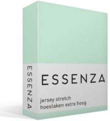 Groene Essenza Premium - Percale katoen - Hoeslaken - Extra Hoog - Lits-jumeaux - 180/200x200/220 cm - Mint