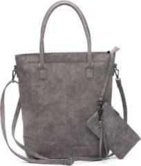 Grijze Zebra Trends Natural Bag Kartel Fearless II grey Damestas