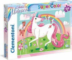 Clementoni supercolor puzzel eenhoorn 104 stukjes (27106)