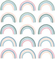 LM Baby Art My little rainbow - Regenboog muurstickers gekleurd 15st - 6x10cm