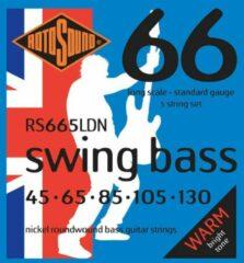 Rotosound RS665LDN roundwound elektrische bassnaren .045-.130